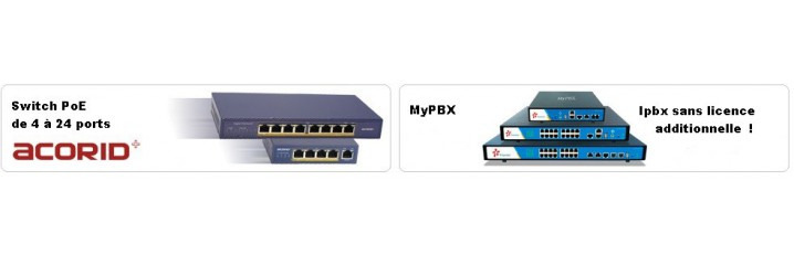Switches PoE ACCORID pour postes IP
